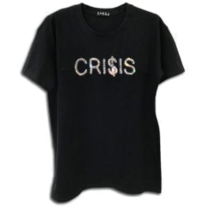 14u clothes accessories tshirt black crisis history alla time classic limited edition handmade swarovski cryslals luxury best top money dow jones golden boy