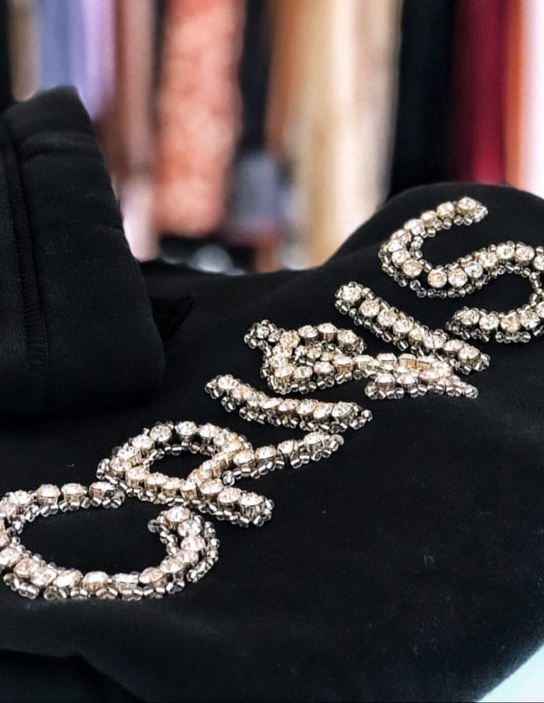 14u ρούχα αξεσουάρ μπλούζα ανδρικό γυναικείο unisex t shirt κεντημένο κρυσταλα swarovski πολυτελείας κρίση