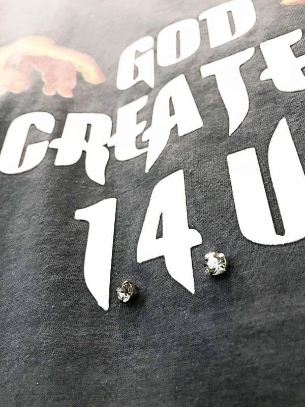14u ρούχα αξεσουάρ χειροποίητη μπλούζα κεντημένη κρύσταλλα swarovski ζωγραφισμένο χέρι michelangelo art ζωγραφιά λογότυπο