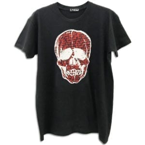 14u clothes accessories handmade tshirt blouse cotton quality swarovski crystals skull art paint painting (3)