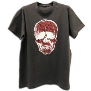 14u ρούχα αξεσουάρ χειροποίητη μπλούζα κεντημένη κρύσταλλα swarovski  ζωγραφισμένο χέρι νεκροκεφαλή art τέχνη