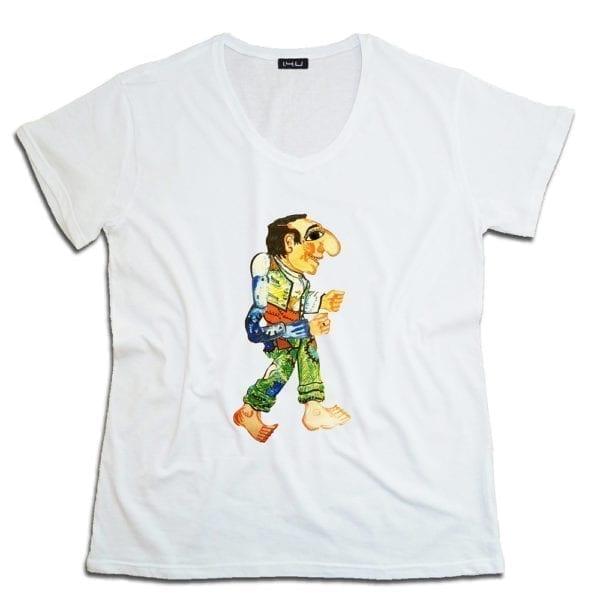 14u χειροποίητη μπλούζα καραγκιώζης ελληνική παράδοση κεντημένη Swarovski® για άντρες και γυναίκες unisex t-shirt