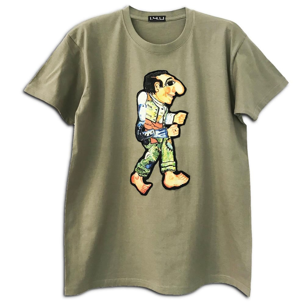 14u clothes accessories handmade tshirt blouse cotton quality swarovski karagiozis greek traditional art olive