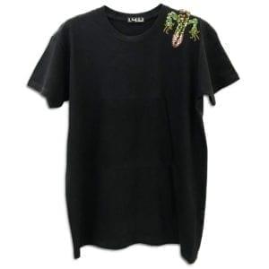 14u ρούχα αξεσουάρ μπλούζα ανδρικό γυναικείο unisex t shirt κεντημένο κρυσταλα swarovski πολυτελεία πολυτελές σαύρα
