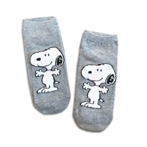 14u-clothes-accessories-socks-Grey-snoopy-sports-home-gym-ancle-school-girl-boys-3 (1)