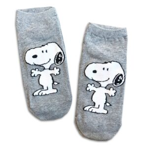 14u-clothes-accessories-socks-Grey-snoopy-sports-home-gym-ancle-school-girl-boys-3 (2)