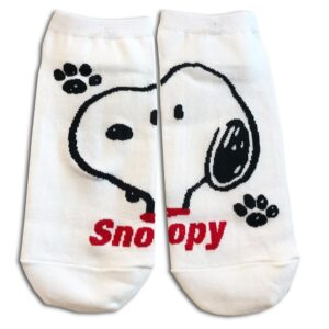 14u-clothes-accessories-socks-White-snoopy-sports-home-gym-ancle-school-girl-boys-2