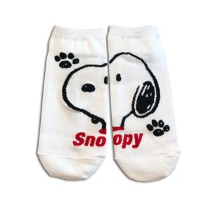 14u-clothes-accessories-socks-White-snoopy-sports-home-gym-ancle-school-girl-boys-3