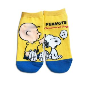 14u-clothes-accessories-socks-blue-yellow-snoopy-sports-home-gym-ancle-school-girl-boys-2