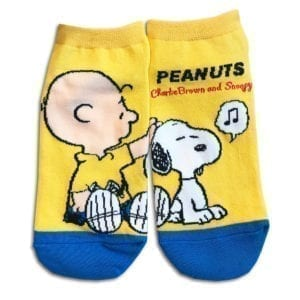 14u clothes accessories socks blue yellow snoopy sports home gym ancle school girl boys (2)