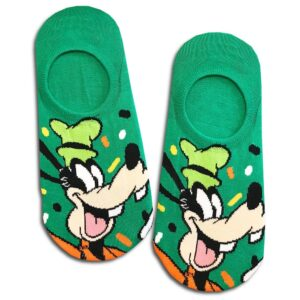 14u-clothes-accessories-socks-green-looney-tunes-goofy-disney-sports-home-gym-ancle-school-girl-boys