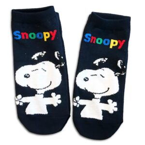 14u-clothes-accessories-socks-green-looney-tunes-snoopy-sports-home-gym-ancle-school-girl-boys