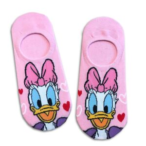 14u-clothes-accessories-socks-red-14u-looney-tunes-daizy-duck-disney-sports-home-gym-ancle-school-girl-boys