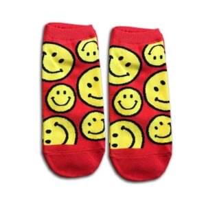 14u-clothes-accessories-socks-red-happy-smile-home-gym-ancle-school-girl-boys
