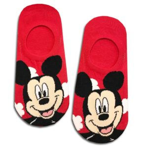 14u-clothes-accessories-socks-red-looney-tunes-mickey-disney-sports-home-gym-ancle-school-girl-boys