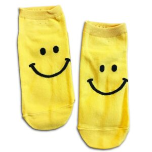 14u-clothes-accessories-socks-yellow-happy-smile-home-gym-ancle-school-girl-boys