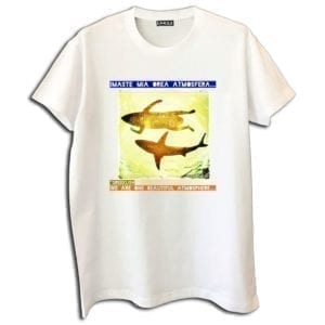 14u clothes accessories summer economic tshirt white digital print greeklish greek cinema eimaste mia oraia atmosfera dinos iliopoulos