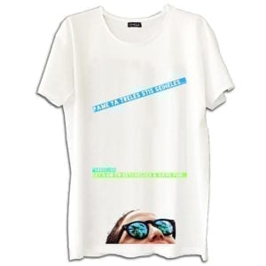 14u clothes accessories summer economic tshirt white digital print greeklish polina pame gia treles