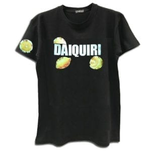 14u clothes accessories tshirt daiquiri lemon cocktail handmade swarovski crystals white