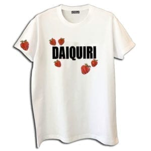 14u clothes accessories tshirt daiquiri strawberry cocktail handmade swarovski crystals white