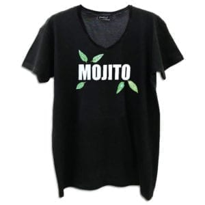 14u clothes accessories tshirt mojito cocktail handmade swarovski crystals black