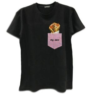 14u clothes accessories tshirt souvlaki pita gyros greek traditioal food handmade swarovski crystals black