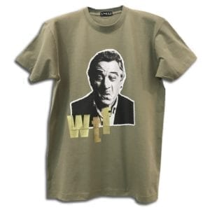 14u χειροποίητη μπλούζα Robert de Niro κεντημένη Swarovski® για άντρες και γυναίκες unisex t-shirt