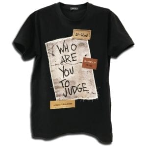 14u clothes accessories unisex tshirt black handmade who are you to judge