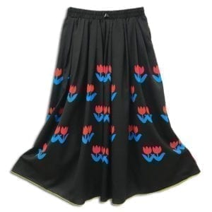 14u clothes accessories womans woman skirt handmade swarovski black tulip (2)