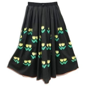 14u clothes accessories womans woman skirt handmade swarovski black tulip