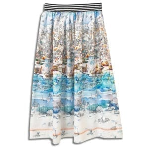 283.01 14u clothes accessories handmade skirt print summer greece islands blue port