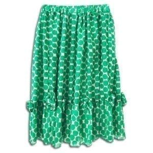 283.02 14u clothes accessories womans woman polkadot skirt polkdots silk green spring summer collection