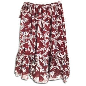 CRG.080 14u clothes accessories womans woman skirt handmade swarovski print flowers red