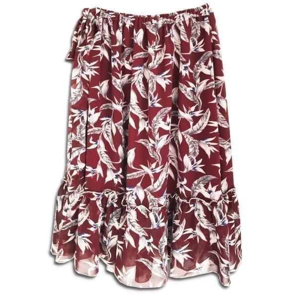 CRG.080 14u ρούχα αξεσουάρ χαρούμενη φούστα γυναικεία γυναίκα χειροποίητη άνοιξη καλοκαίρι εμπλριμέ λουλούδια