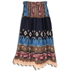 CRG.190J1 14u clothes accessories womans woman skirt handmade print print flower summer greece