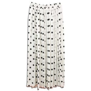 CVD.005 14u clothes accessories womans woman white skirt polkdots polkdot black spring summer collection