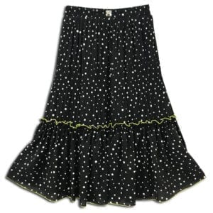 CVD.006 14u clothes accessories womans woman white skirt polkdots polkdot black
