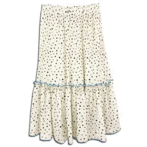 CVD.006 14u clothes accessories womans woman white skirt polkdots polkdot black (2)