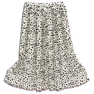 CVD.007 14u clothes accessories womans woman white skirt polkdots polkdot black (3)