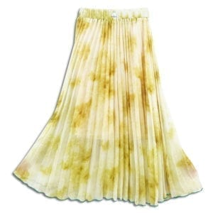 CVD.008 14u clothes accessories womans woman skirt pleats handmade swarovski crystals yellow