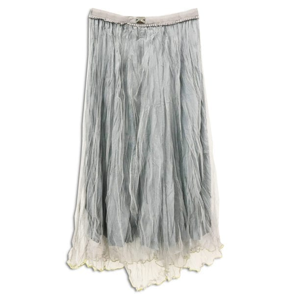 CVD.008 14u ρούχα αξεσουάρ χαρούμενη φούστα γυναικεία γυναίκα χειροποίητη πλισέ τούλινη μπλε άνοιξη καλοκαίρι