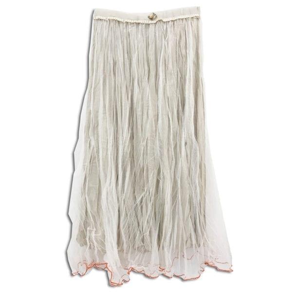 CVD.008 14u ρούχα αξεσουάρ χαρούμενη φούστα γυναικεία γυναίκα χειροποίητη πλισέ τούλινη γκρι άνοιξη καλοκαίρι