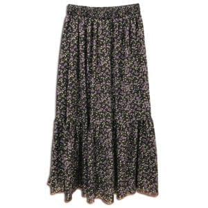 CVD.011 14u ρούχα αξεσουάρ χαρούμενη φούστα γυναικεία γυναίκα χειροποίητη άνοιξη καλοκαίρι μπλριμέ λουλούδια