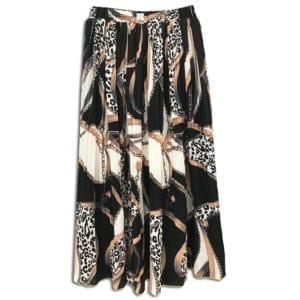 CVD.016 14u ρούχα αξεσουάρ χαρούμενη φούστα γυναικεία γυναίκα χειροποίητη πλισέ αλυσίδες λευκή άνοιξη καλοκαίρι