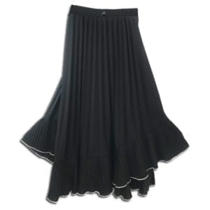 CVD.019 14u clothes accessories womans woman skirt handmade swarovski pleated beige black