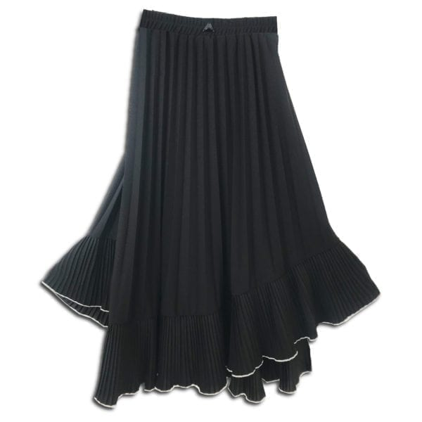CVD.019A 14u ρούχα αξεσουάρ χαρούμενη φούστα γυναικεία γυναίκα χειροποίητη άνοιξη καλοκαίρι πολυτελείας μπέζ μαύρη