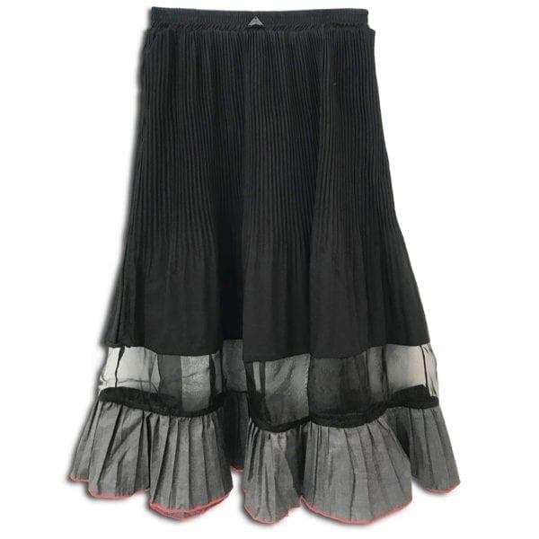 rlx.017 14u ρούχα αξεσουάρ φούστα γυναικεία γυναίκα χειροποίητη άνοιξη καλοκαίρι πολυτελείας μαύρη