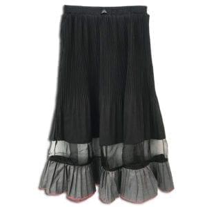 RLX.017 14u ρούχα αξεσουάρ φούστα γυναικεία γυναίκα χειροποίητη άνοιξη καλοκαίρι πολυτελείας μπέζ μαύρη