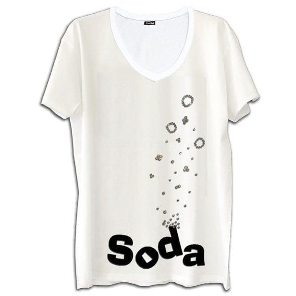 14u ρούχα αξεσουάρ t-shirt μπλούζα ανδρικό γυναικείο unisex t shirt κεντημένο κρυσταλα swarovski πολυτελείας στάμπα σόδα καλοκαίρι λογότυπο