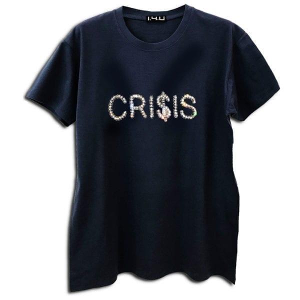 14u clothes accessories tshirt black crisis history alla time classic limited edition handmade swarovski cryslals luxury best top money dow jones golden boy
